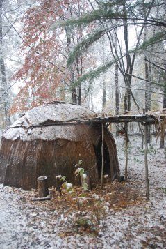 Wigwam in March Snow Storm