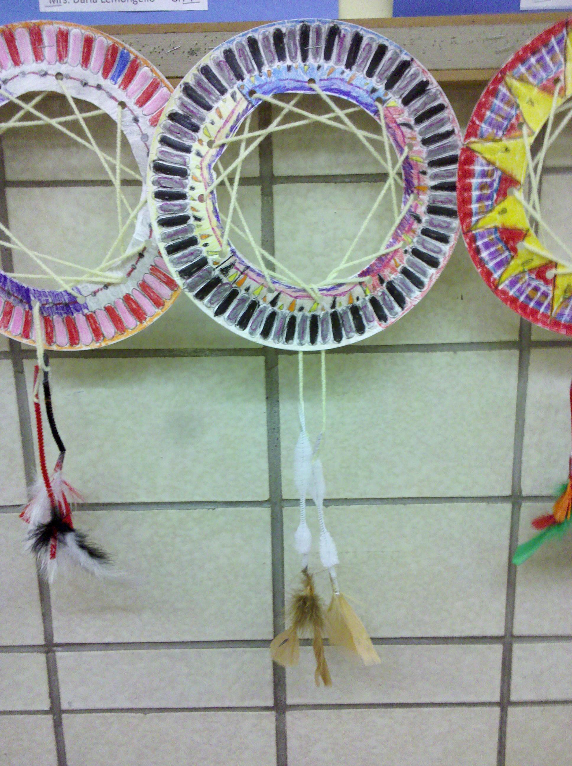 Dream Catchers from a Paper Plate & Dream Catchers from a Paper Plate u2013 Nature Into Action