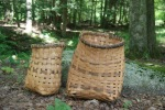 split rattan baskets