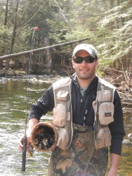 David's catch on the Big Flatbrook, Opening of Trout Season, NJ