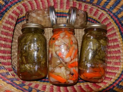 Finished Pickled Wild Leeks
