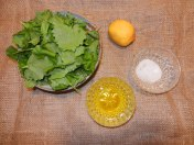 Garlic Mustard Pesto Ingredients