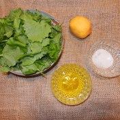 Garlic Mustard Pesto Ingredients