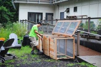 Three Bin Compost System