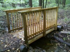 Replaced Bridge over wetland stream
