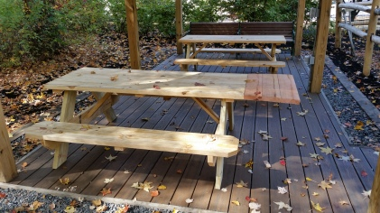 Gazebo Picnic Tables