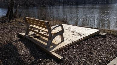 Passaic River Seating Area