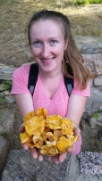 Natalia with a double handful of Chanterelle