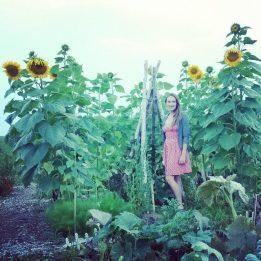 Natalia in Sunflower House Garden