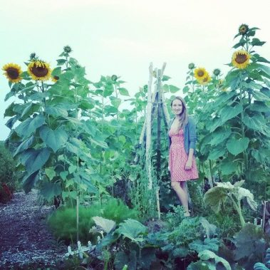 Natalia in Sunflower House Garden