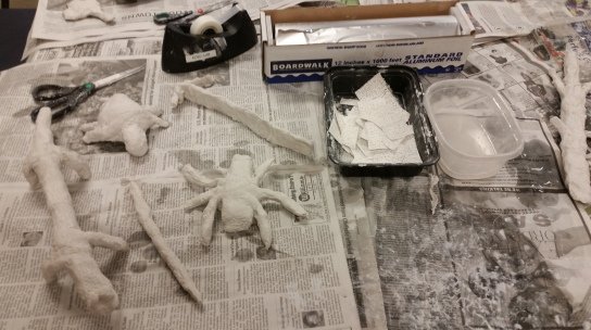 Plaster covered Tinfoil Creatures