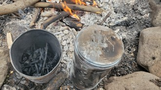 Charcoal Art on the Campfire and Map Making (2)