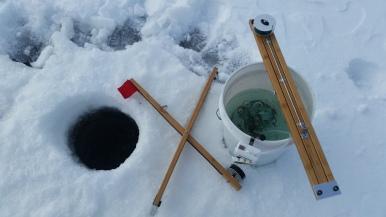 Icefishing at Splitrock Reservoir