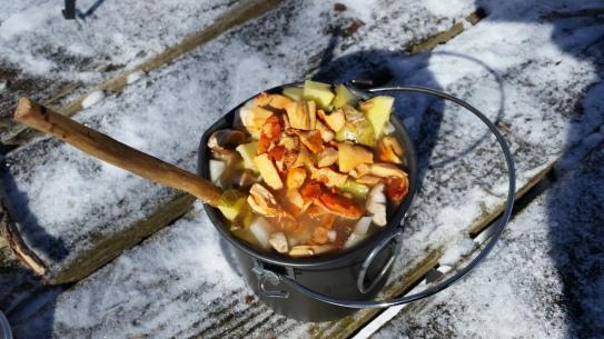 Venison & Chanterelle Stew in Mors Pot
