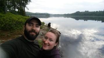 David and Natalia at Lake Lila