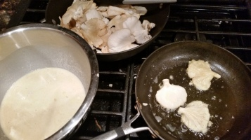 Frying Wild Oyster Mushrooms