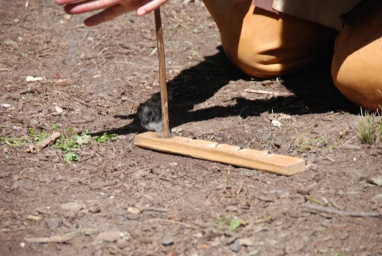 Fire by Friction Demonstration and Trial (7)
