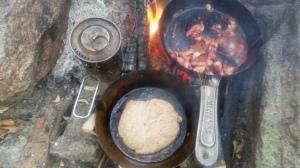 Wild Foraged Autumn Bannock Tart Dessert