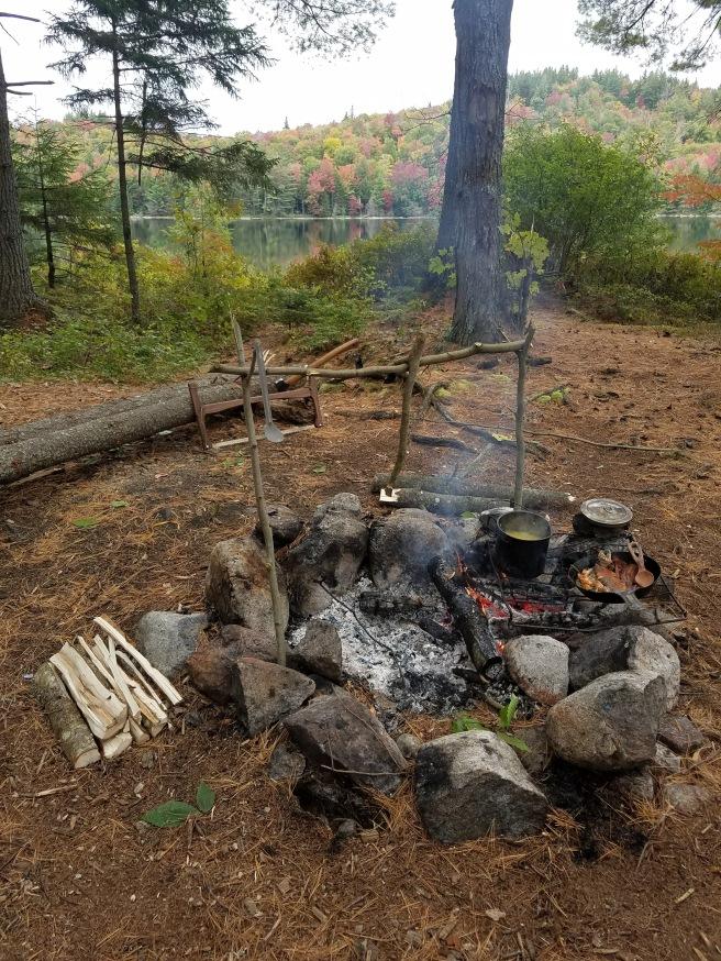 Camp Cookery Setup