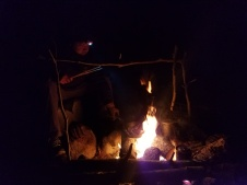 Camp Cookery at Night