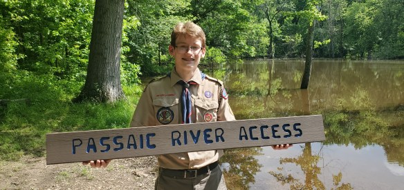 Routed Signs, Passaic River Access