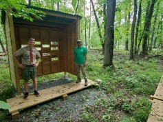 Bird Blind at Essex County Environmental Center, Eagle Scout Project