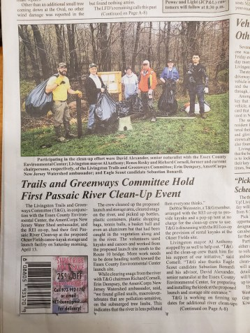 David Alexander, Passaic River Clean-up (2)