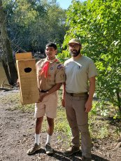 With an Eagle Scout who built 15 boxes for our parks!